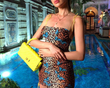 Talia Leopard butterfly dress