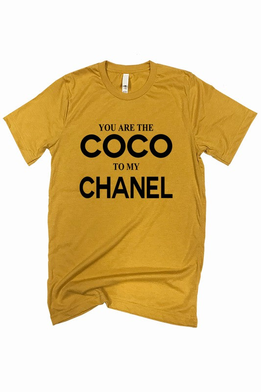 Mustard Coco Graphic Tee