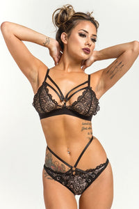 Midnight Mimosa Bra and Panty Set