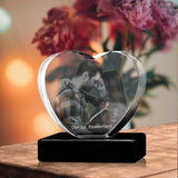 Personalized 3D Christmas photo crystal gift – Christmas Heart