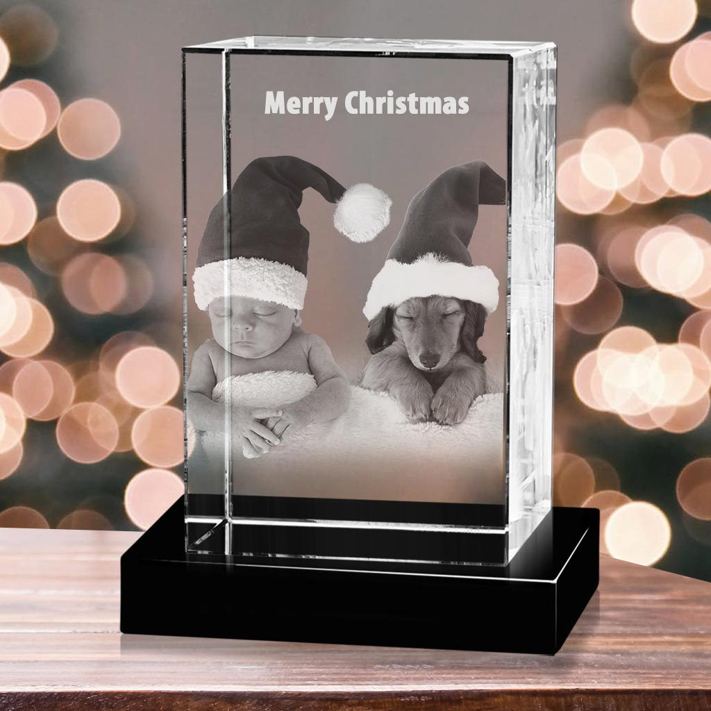 Laser Engraved with Your Custom Photo 3D Tower Portrait Crystal