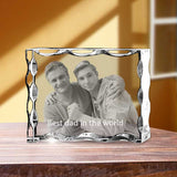 Personalized 2D Christmas photo crystal gift – Christmas Serrated 2D Landscape