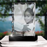 Personalized 2D Christmas photo crystal gift – Christmas Serrated 2D Portrait