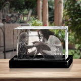 Personalized 3D Christmas photo crystal gift – Christmas Landscape