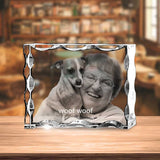 Serrated Crystal Landscape for Pet Lovers - 2D - The best 3D crystal gifts in the world!