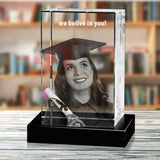 Personalized 3D Christmas photo crystal gift – Christmas Portrait