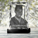Graduation Serrated Portrait - 2D - The best 3D crystal gifts in the world!