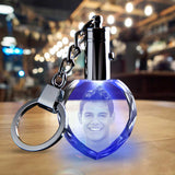 2D Photo Crystal Keychain - Heart - The best 3D crystal gifts in the world!