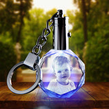 2D Photo Crystal Keychain - Octagon - The best 3D crystal gifts in the world!