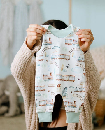 Toy Train Organic Baby Romper