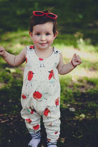Organic Baby clothes robin birds