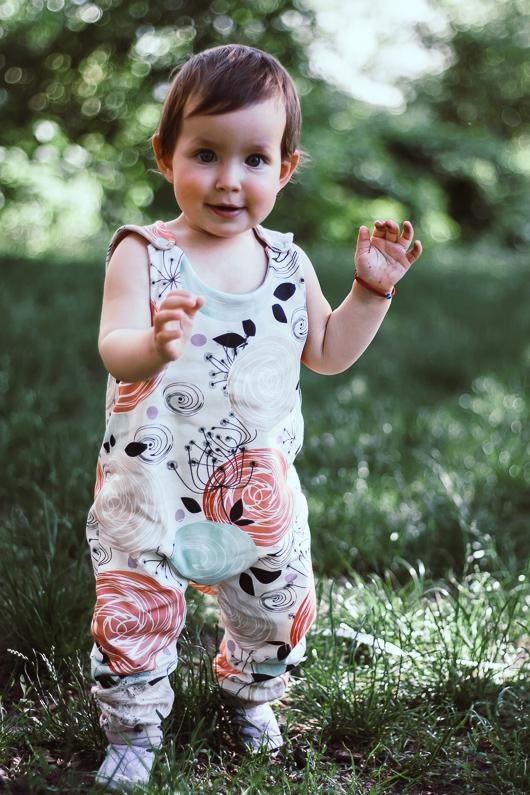 Bohemian Organic Baby Clothes - Floral Romper