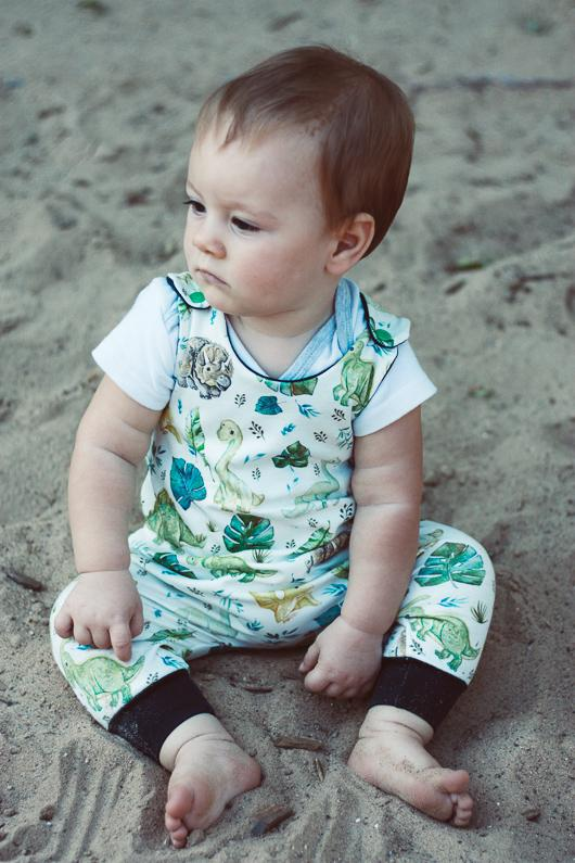 organic baby clothes dinosaurs romper