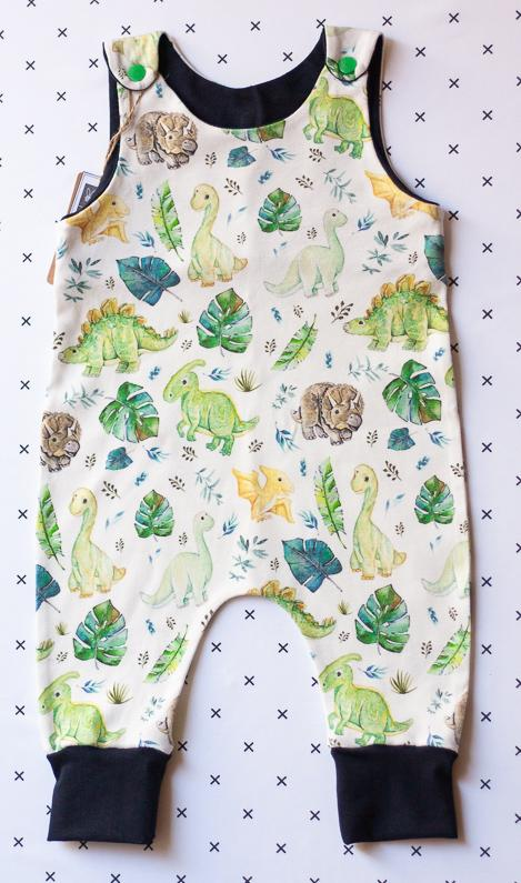 organic cotton baby clothes dinosaurs romper