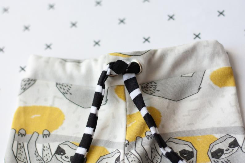 newborn baby clothes - organic cotton sloths print
