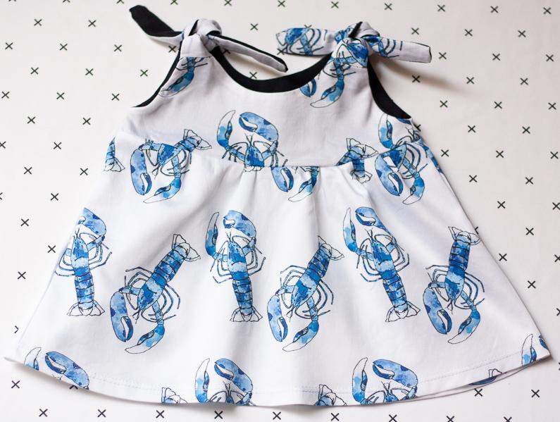 organic baby clothes lobsters dress