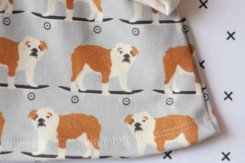 organic clothing for babies bulldog dress set