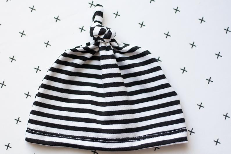 striped baby hat organic baby clothes