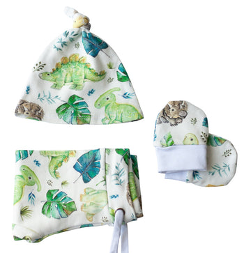 Dino Organic Baby Boy Clothes Set