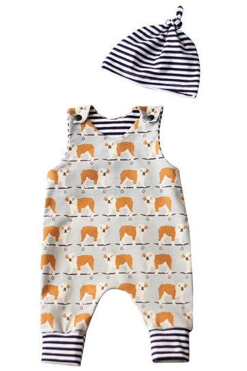 Gender Neutral Organic Baby Romper Set