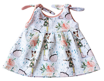 Organic Baby Clothes for Girls- Darling Fox Dress
