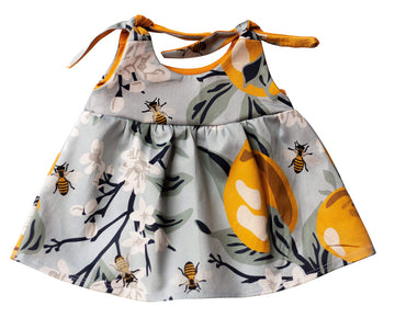 Organic Baby Clothes -  Sweet Bees Dress