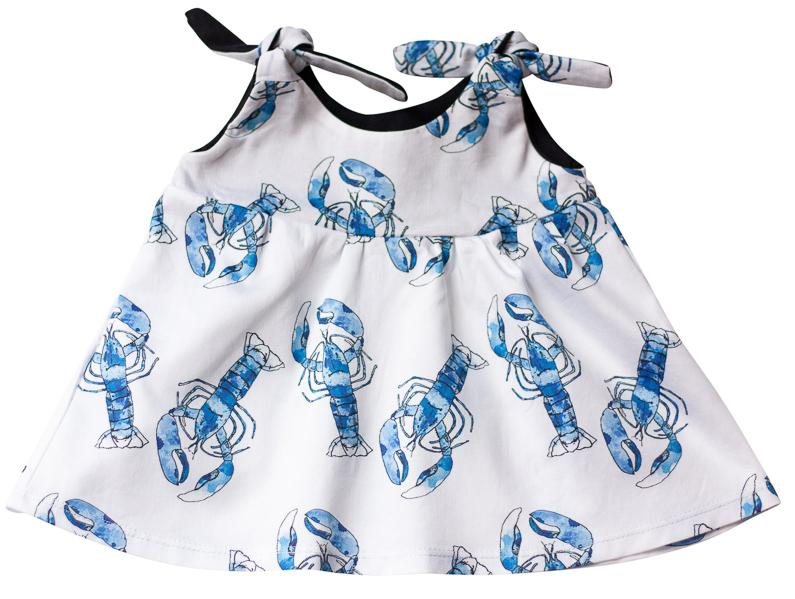 Organic Baby Girl Clothes - Lobsters Dress