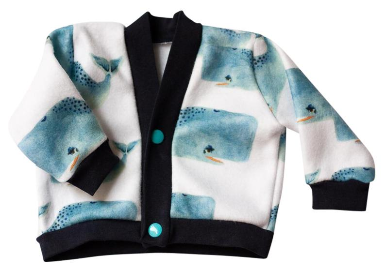 Whales Fleece Jacket - Winter Baby Clothing