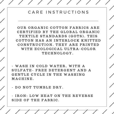 Care Instructions tbb organics