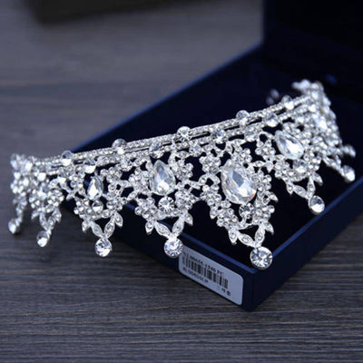 Korean Elegant Princess Crystal Tiaras Crowns - Bossladys Boutique