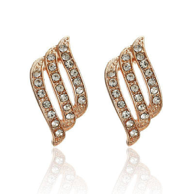 Fashion Gold Color Korean Style Simple Crystal Drop Earrings For Women Wedding Jewerly Bridal Engagement Earrings Female Gifts - Bossladys Boutique