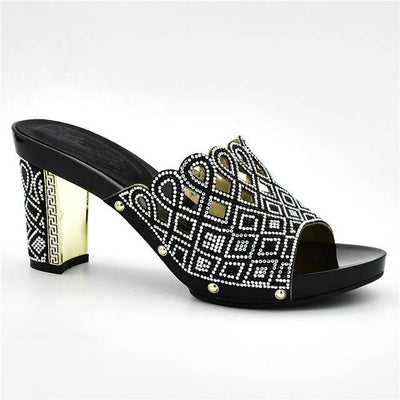 Decorated with Rhinestone Italian Party Shoes - Bossladys Boutique