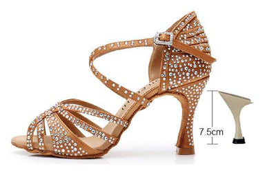 Small Rhinestone Salsa Dancing Shoes - Bossladys Boutique
