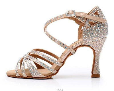 Latin small rhinestone shining party shoes - Bossladys Boutique