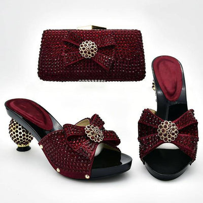 Latest Design Italian Shoes with Matching Bags - Bossladys Boutique