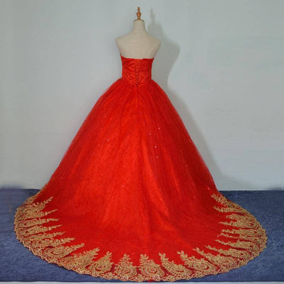 Strapless Red Wedding Classic Dress - Bossladys Boutique