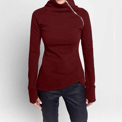 Spring Autumn Casual Solid Hoodies - Bossladys Boutique