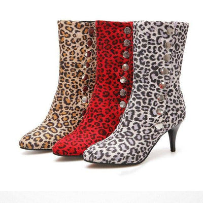 Leopard-Printed Shoes Women's Snow Boots - Bossladys Boutique