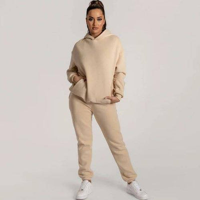 Fleece Lined Long Sleeve Pullovers Sweatpants - Bossladys Boutique