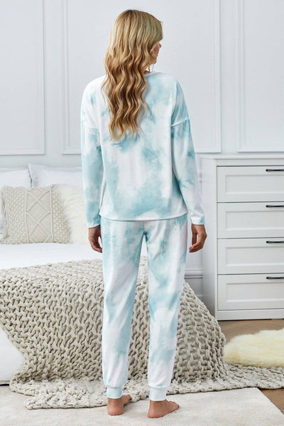 Tie Dye Knit Long Sleeve Joggers Set - Bossladys Boutique