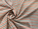 EARTH PINK STRIPED BAUMWOLLE LEINEN LEINWAND