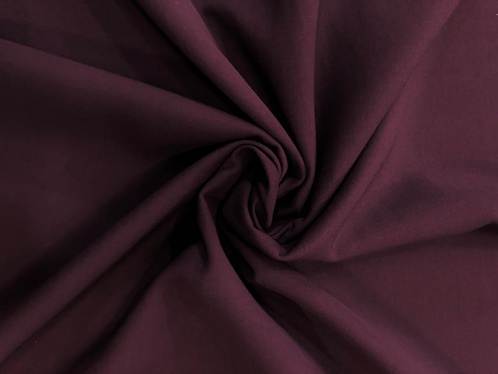PLUM HEAVY WOOL CLOTH