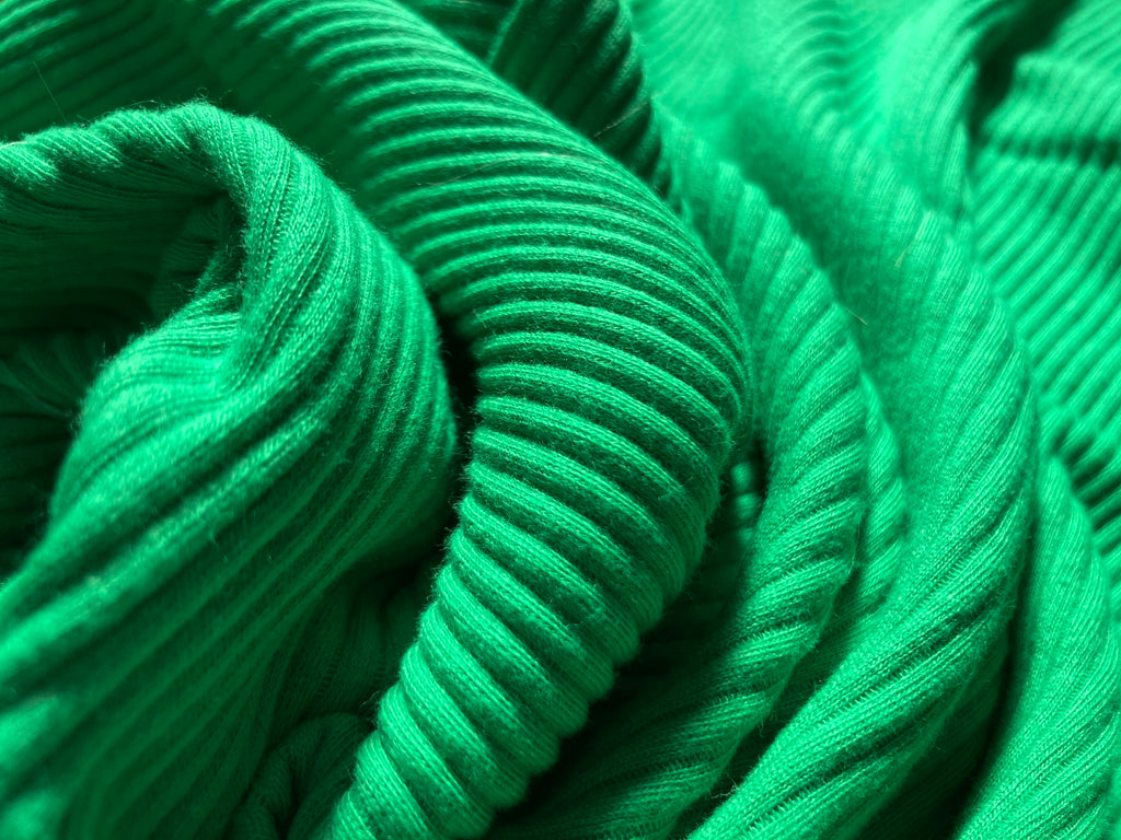 PRAIRIE GREEN RIBBED TUBULAR JERSEY