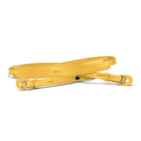 Leica Neck Strap, leather, yellow