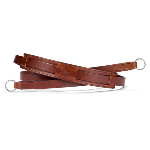 chestnut Leica Traditional carrying strap Ostrich look