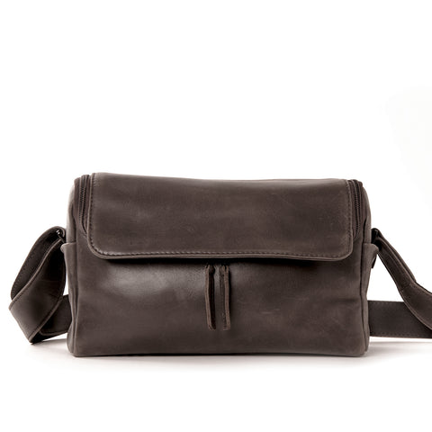 Harold's Lederwaren - 2in1 Leather Camera Bag, Small, Brown