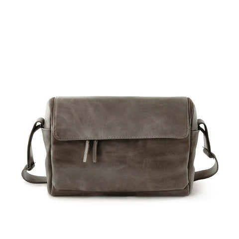 Harold's Lederwaren - 2in1 Leather Camera Bag, Small, Taupe