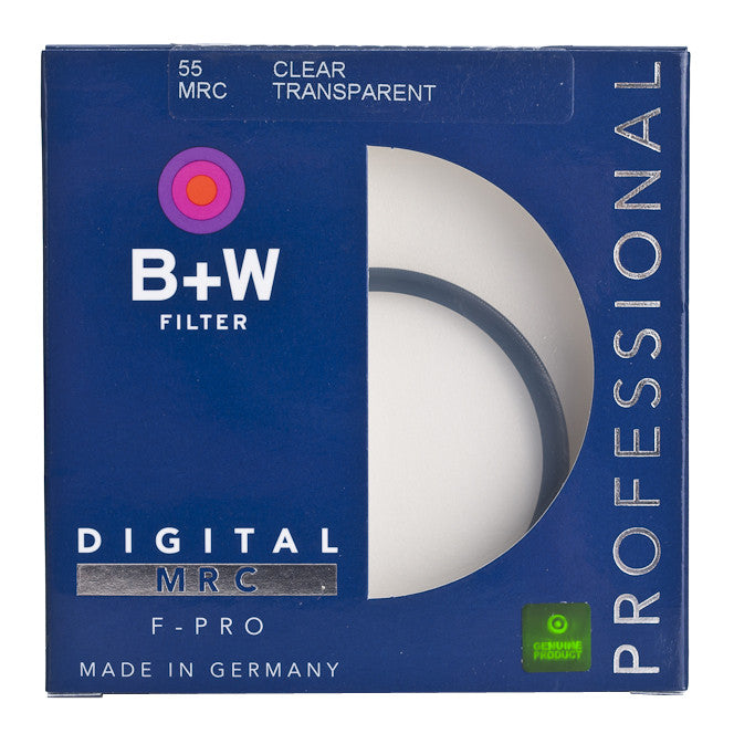 B+W 55mm F-Pro 007M Clear Filter MRC