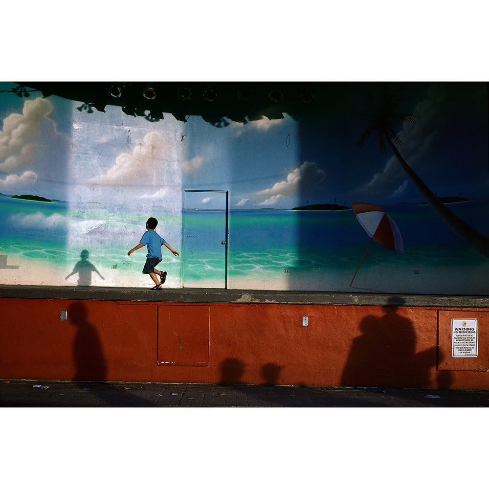 "Constantine Manos - 13x19"" Print - Boy Dancing on Outdoor Stage, Hollywood Beach, Florida, 2003"