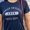 Barnack University T-Shirt, Navy, Womens, Medium
